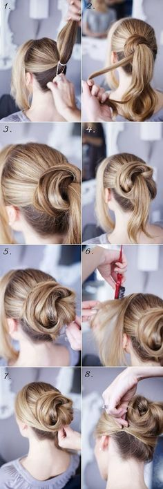 Cute Steps of Wraparound Bun (Beauty Hairstyles Up Dos)
