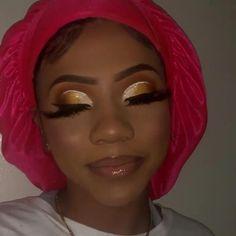 Discover more about eye makeup tips & tutorials Glam Makeup Look, Glamour Makeup, Black Girl Makeup, Cute Makeup, Girls Makeup, Gorgeous Makeup, Pretty Makeup, Gold Makeup Looks, Edgy Makeup
