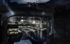 ArtStation - Halo 4 - space station entrance, sparth .