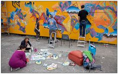 Artists at Work - Upfest 2012