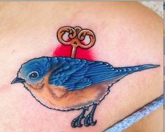 Murakami tattoo, submitted by Nikole from Las Vegas, inspired by The Wind-Up Bird Chronicle and Norwegian Wood
