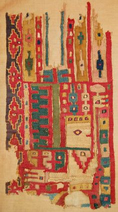Textile fragment; Huari, Tiahuanaco 600-900. British Museum, Online Collection.