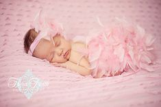 Pink Feather Diaper Cover Bloomer & Matching Headband Set The Original By Babicakes Couture Spring, Easter, Summer, New Baby Photo Prop
