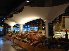 Fresh Supermarkets Retail Fabric Cone Canopies