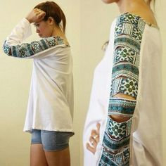Good inspiration for an upcycle idea if the sleeve is tight
