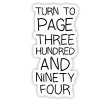 SNAPE Turn To Page 394 Sticker