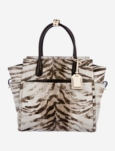 f8da9a1a5e6 Reed Krakoff Large Atlantique Brown Tiger Print Calf Hair And Calfskin Leather  Tote - Tradesy Shopping