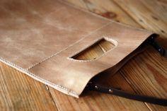 Leather tote bag. Multipurpose leather bag. by JustWanderlustShop