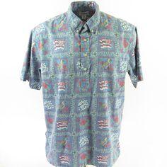 0e20d051 Vintage Reyn Spooner Hawaiian Shirt Mens 2XL Hawaiian flag Patriotic
