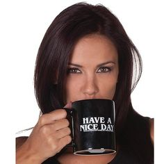 Have a Nice Day Coffee Mug 350ml Funny Middle Finger Cups And Mugs For Coffee Tea Milk Novelty Birthday Gifts