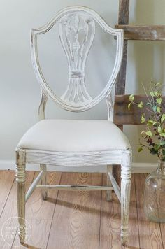 See how grandma's antique dining table and chairs is transformed and updated with chalk paint.