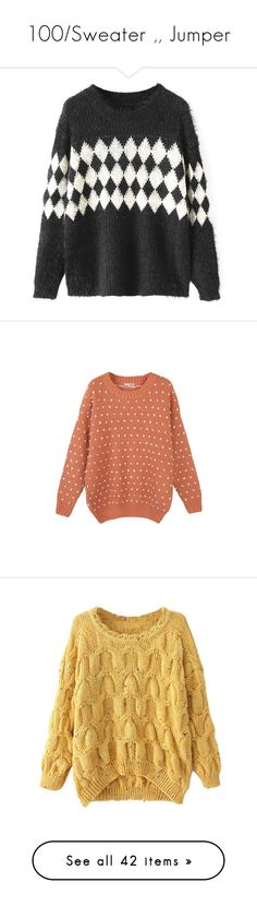 """""""100/Sweater ,, Jumper"""" by mam-ka ❤ liked on Polyvore featuring Sweater, knitwear, jumper, knit, tops, sweaters, chicnova, print sweater, extra long sleeve sweater and sweater pullover"""