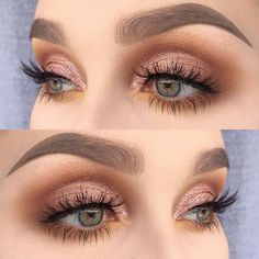 Cute Eye Makeup Looks picture 3 - - Cute Eye Makeup Looks picture 3 Beauty Makeup Hacks Ideas Wedding Makeup Looks for Women Makeup Tips Prom Makeup ideas Cut Natural Makeup Halloween Ma. Makeup Inspo, Makeup Inspiration, Makeup Ideas, Makeup Hacks, Makeup Tutorials, Style Inspiration, Make Up Gold, Rose Gold Makeup, Rose Gold Eyeshadow