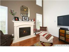 Cute mantel over fireplace