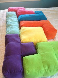 Tetris Pillows (Tetrominoes)... So doing this someday!