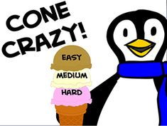 multiplication fact practice Cone Crazy Levels Step 1