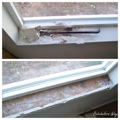 How to install a window sill and trim