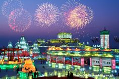 The Harbin Ice and Snow Sculpture Festival is just one of the many things to look forward to this #winter season in #China! #travel #tourism