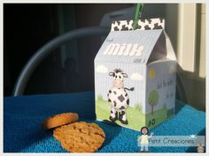 PRINTABLE MILK Carton The Farm DIY digital di PetitCreaciones