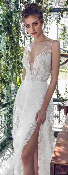 limor rosen 2019 xo bridal sleeveless with strap deep v neck full embellishment romantic soft a line wedding dress open back chapel train (4) lv