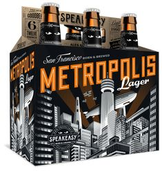 Speakeasy Ales & Lagers Metropolis Lager 12oz. 6-pack -designed by Emrich Office