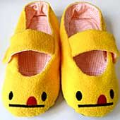 Cheeky Monster House MaryJanes (ADULT) yellow. By littleoddforest