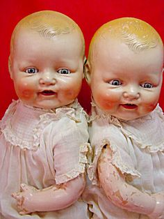 1920 RARE HORSEMAN BABY DIMPLES TWIN DOLLS