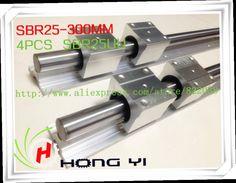 45.00$  Watch now - http://alihiy.worldwells.pw/go.php?t=892252724 - 2pcs SBR25 300mm Linear Bearing Rails +  4pcs SBR25UU Linear Motion Bearing Blocks 45.00$