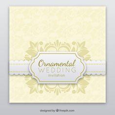 Invitación de la boda del tapetito Vector Gratis
