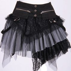 RQ-BL - Dark Desires [Black/White] Skirt - Buy Online Australia Beserk