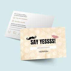 MR. & MRS. Antwortkarten zur Hochzeit gestalten