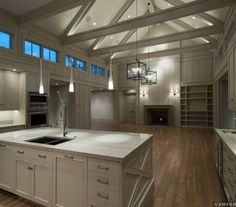 Interior White Cabinet On The Wooden Floor Pole Barn Houses