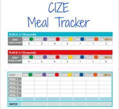 CIZE Food Tracker! http://jessicasproul.com/how-to-create-your-cize-meal-plan/