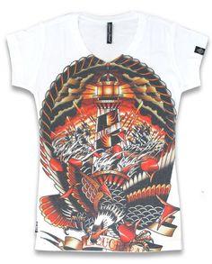Liquor Brand Damen LAST PORT T-Shirt.Oldschool,Tattoo,Pin up,Custom,Biker Style