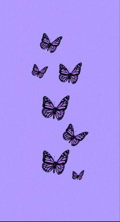 Purple Butterfly Wallpaper, Purple Wallpaper Iphone, Iphone Wallpaper Vsco, Cartoon Wallpaper Iphone, Flower Phone Wallpaper, Iphone Background Wallpaper, Wallpaper Quotes, Neon Wallpaper, Aesthetic Wallpapers