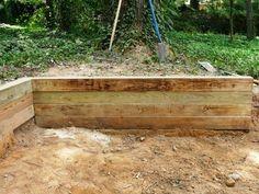 Building a Timber Retaining Wall | how-tos | DIY