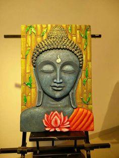 Budha Painting, Krishna Painting, Mural Painting, Aluminum Foil Art, Kalamkari Painting, Indian Art Paintings, Buddha Art, Mural Wall Art, Art N Craft