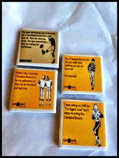 Set of 4 Cleveland Browns magnets