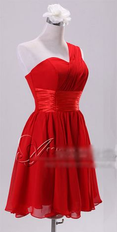 Red Bridesmaid dress..never make your girls wear something you wouldn't wear! Obviously in blue instead of red
