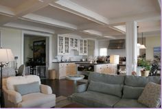 Amazing Coffered Ceiling   And It Looks Like An 8 Foot Ceiling Too. Love The Colors.