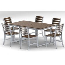 Patio Dining Sets - Features: Umbrella Hole, Seating Capacity: Six Person   Wayfair