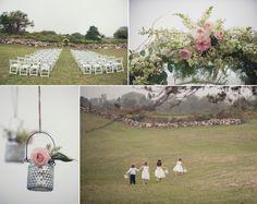 Ceremony Details at a Rose Farm Inn Block Island Wedding ©Snap Weddings