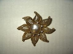 Vintage Unsigned MIRIAM HASKELL Goldtone & Glass Baroque Pearl Flower Brooch Pin | Jewellery & Watches, Vintage & Antique Jewellery, Costume | eBay!