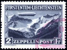 Liechtenstein, Michel 7+8 - 1931, Zeppelin, both items with clean red S-$3, in perfect condition. Certificate BP