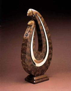 """Sharing Our Lives Together"" -  Bronze sculpture by Larry Yazzie. - Acclaimed Native American sculptor Larry Yazzie graduated with honors from the Institute of American Indian Art in Santa Fe in the mid-1980s."