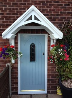 Door Canopy Wooden Porch Awning Front Door Canopies at Preciolandia United Kingdom & 40 Lovely Door Overhang Designs | For the Home by Sheri Barber ...