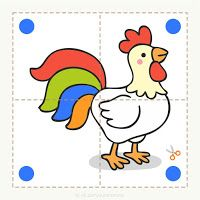 Preschool and children& animal puzzles, let& cut. - Preschool and children& animal puzzles, let& cut. Preschool and children& animal - Preschool Learning Activities, Creative Activities, Preschool Activities, Kids Learning, Activities For Kids, Colors For Toddlers, Puppets For Kids, Animal Puzzle, Alphabet For Kids