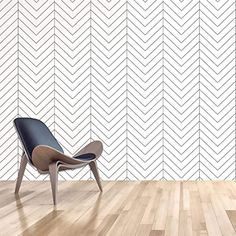 Black and White Wallpaper Stick and Peel Modern Stripe Contact Paper Herringbone Pattern Vinyl Self Adhesive Removable Waterproof Decorative Paper for Bedroom,Bathroom, Kitchen & Furniture, 17.7