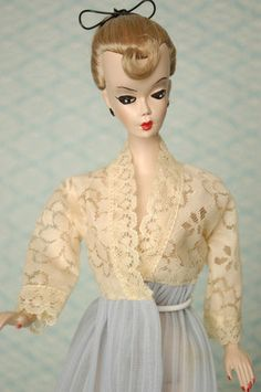 Vintage Barbie Hong Kong Bild Lilli Clone Cream Lace Pegnoir Night Gown Nighty | eBay