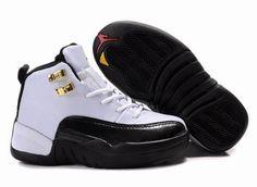 the latest 4a061 98483 Kids Air Jordan 12 White Black j12 taxi. Jordan Shoes For KidsCheap ...